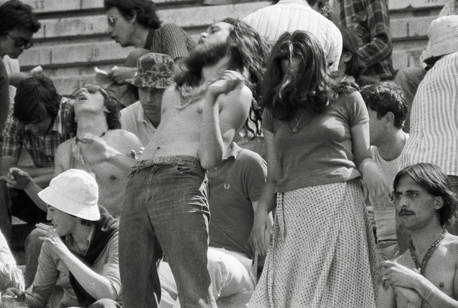Imagen tomada a las 15 horas ciudad de Burgos. 5 de julio de 1975. Festival de la Cochambre. Pep Rigol