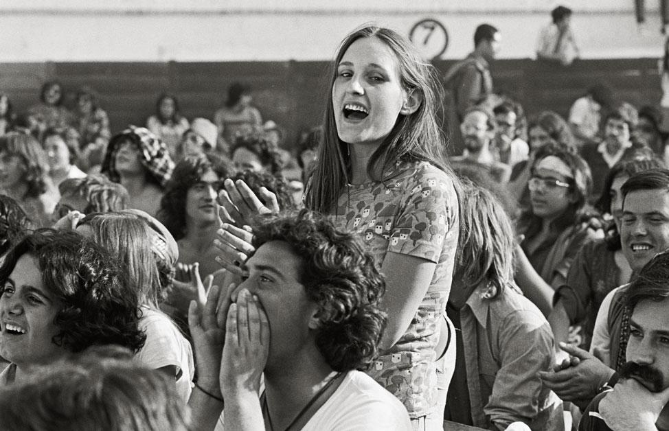 El público jaleó y disfrutó con los grupos que, durante cuarenta minutos, actuaban en el escenario. Burgos 5 de julio de 1975. Pep Rigol