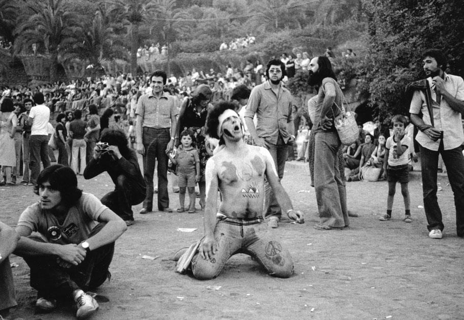 Jornadas libertarias en el parque Güell, 1977. Pilar Aymerich