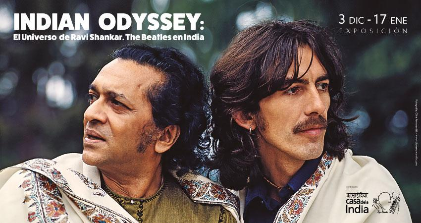 Exposición: An Indian Odyssey:  El universo Ravi Shankar. The Beatles in India.